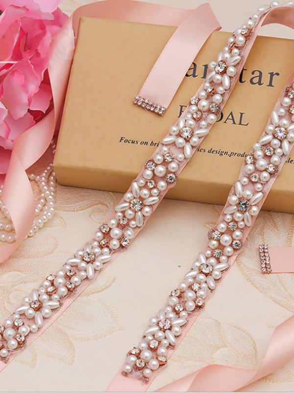 Alloy Rhinestones Wedding Dress Sash