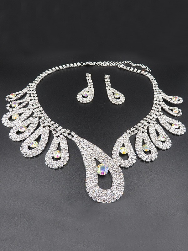 New Hot Sale Alloy With Rhinestone Wedding Bridal Jewelry Set