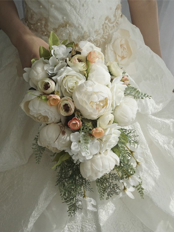 Hot Sale Cascade Silk Flower Wedding Bouquets