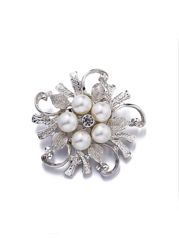 Women's Fashion Alloy With Imitation Pearl Wedding Brooch