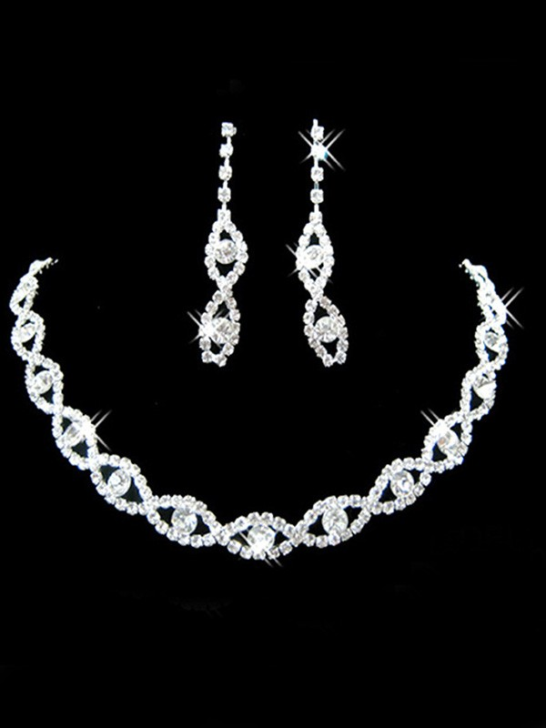 New Hot Sale Korean New Hot Sale Rhinestone Wedding Bridal Jewelry Set